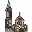 christchurch, cathedral, church, new, zealand