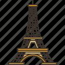 eiffel, tower, paris, landmark, tourism