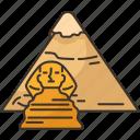 giza, pyramid, sphinx, egypt, heritage