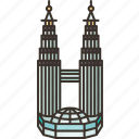 petronas, towers, malaysia, urban, landmark