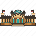 reichstag, building, berlin, government, german