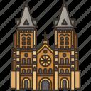 saigon, basilica, catholic, church, vietnam