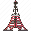 tokyo, tower, japan, landmark, metropolitan