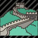 wall, great, china, heritage, ancient