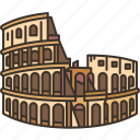 colosseum, ancient, roman, historic, italy
