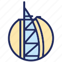 burj al arab, dubai, landmark, uae icon