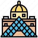 france, louvre, museum, paris, pyramid
