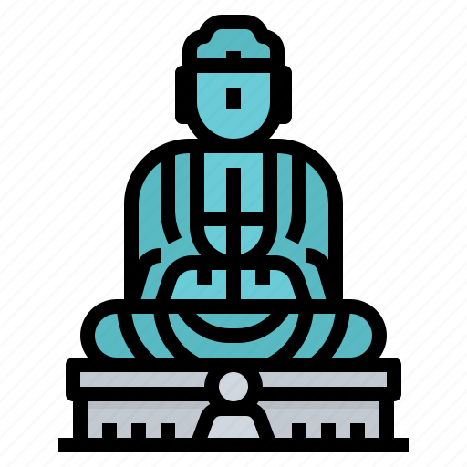 japan, kotokuin, landmark, temple icon