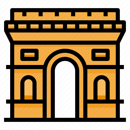 arc, de, france, landmark, monuments, paris, triomphe icon