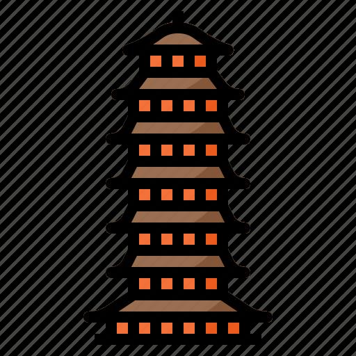 beisi, buddhism, china, landmark, pagoda icon