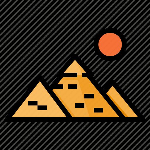 egypt, giza, great, pyramid icon
