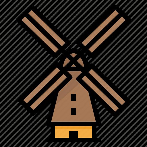architectonic, holland, landmark, windmill icon