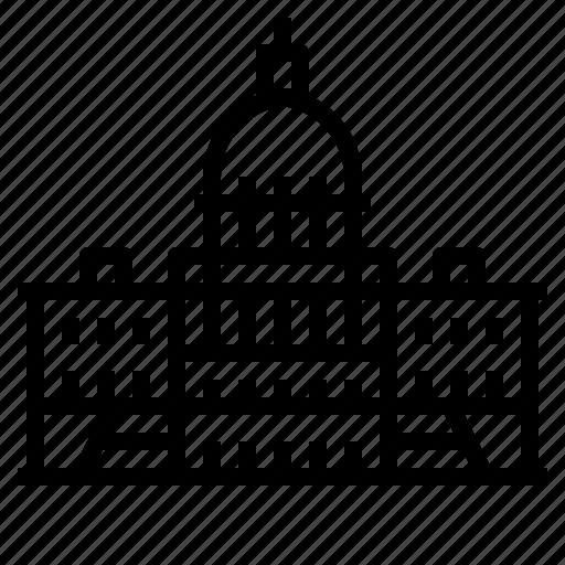 america, building, capitol, landmark, states, united, washington icon