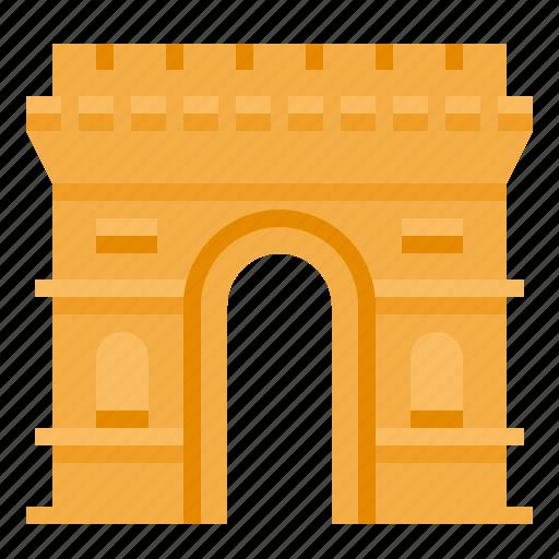 arc, de, france, landmark, monuments, paris, triomphe icon