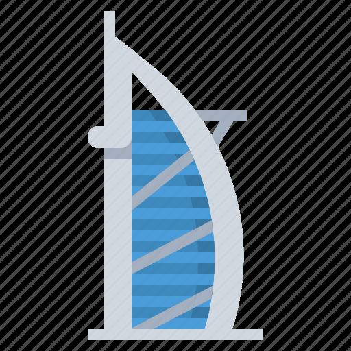 al, arab, building, burj, dubai, landmark, tower icon