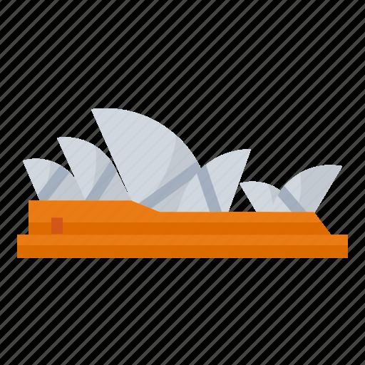 australia, house, landmark, opera, sydney icon