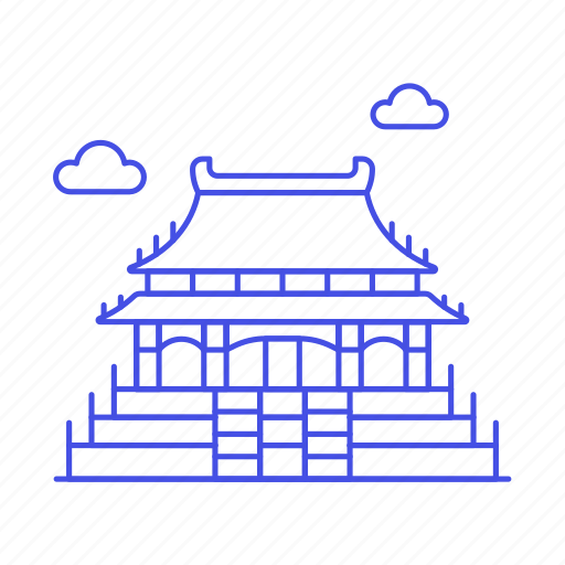 beijing, china, city, dongcheng, forbidden, landmarks, national, palace, symbol icon
