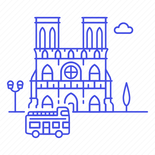 architecture, cathedral, dame, france, landmarks, monument, national, notre, paris, symbol icon