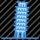 leaning, tower, of, pisa, landmark, italy, monuments
