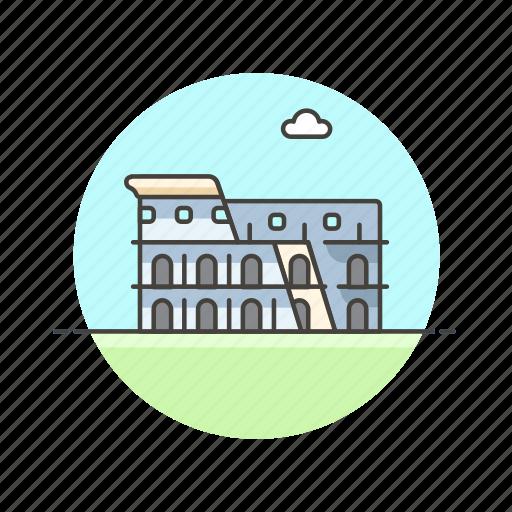 architecture, colosseum, famous, italy, landmark, monument, rome icon