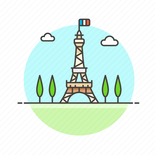 architecture, eiffel, famous, france, landmark, monument, paris, tower icon