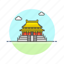 architecture, beijing, china, city, famous, forbidden, landmark, monument icon