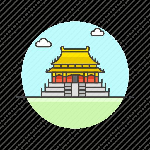 architecture, beijing, china, city, famous, forbidden, landmark, monument icon