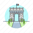 architecture, famous, france, gate, landmark, monument, paris icon