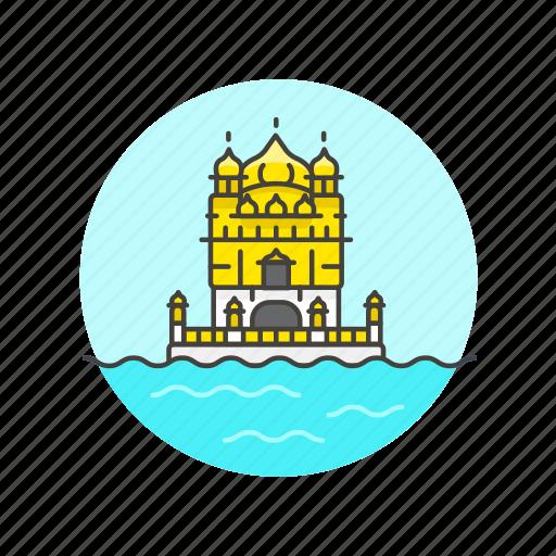 architecture, famous, golden, india, landmark, monument, temple icon