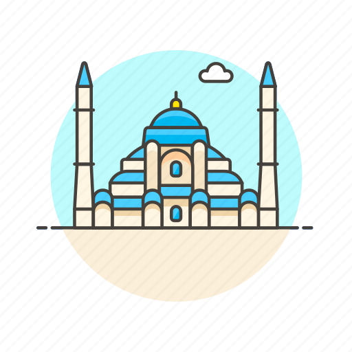 architecture, famous, hagia, istanbul, landmark, monument, sophia, turkey icon