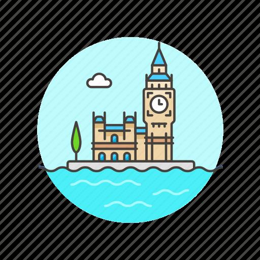 architecture, famous, houses, landmark, london, monument, of, parliament icon