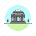 architecture, famous, jefferson, landmark, memorial, monument, us, washington icon