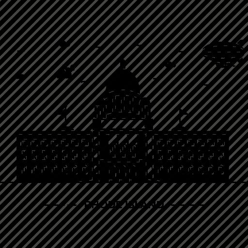 building, capital, island, landmark, monument, rhode, state icon