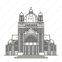 heart, basilica, landmarks, famous, sacred, world, brussels icon