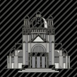 basilica, brussels, famous, heart, landmarks, sacred, world icon