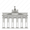 famous, landmarks, brandenburg, gate, world