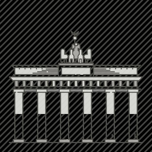 brandenburg, famous, gate, landmarks, world icon