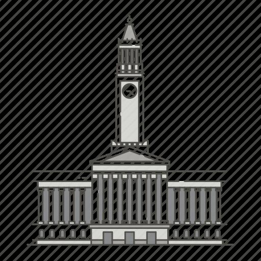 brisbane, cities, city, famous, hall, landmarks, world icon