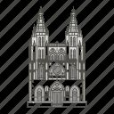 burgos, cathedral, famous, landmarks, world icon