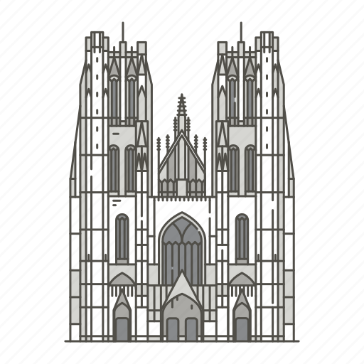 cathedral, gudula, landmarks, michael, of icon