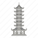 ancient, chinese, famous, landmarks, pagoda, world icon