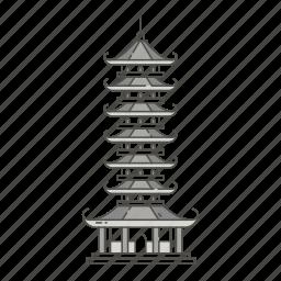 ancient, chinese, famous, landmarks, pagoda, world icon