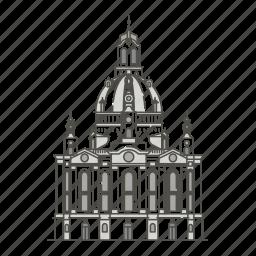 dresden, famous, frauenkirche, landmarks, world icon
