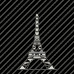 eiffel, famous, landmarks, tower, world icon