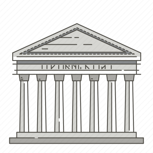 ancient, europe, famous, landmarks, pantheon, roman, temple icon