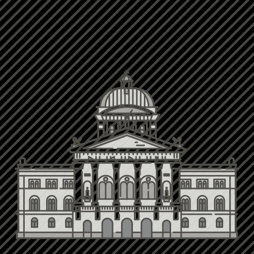 famous, federal, landmarks, of, palace, switzerland, world icon