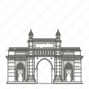 famous, gateway, india, landmarks, mumbai, of, world icon