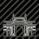 mumbai, of, landmarks, india, famous, world, gateway icon