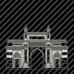 famous, gateway, india, landmarks, mumbai, of, world icon