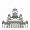 famous, helsinki, landmarks, senate, square, world icon